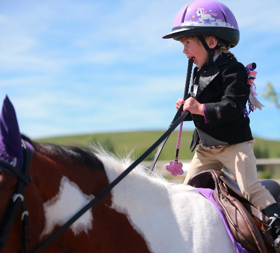 kids learning to ride